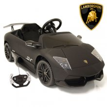 Matte Black 12v Lamborghini Murcielago Kids Sports Car