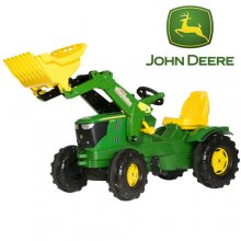 John Deere Farm 6210R Pedal Tractor with Front Digger