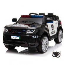 12v American Cop Car 2 Seat Sit in Ride on with Lights & Sounds