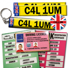 Childs Personalised Photo Little Drivers License Goodie Pack