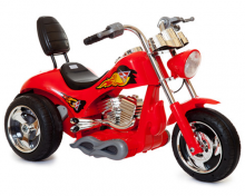 Red 6v Kids Ride-On Hot Rod Chopper Motorcycle