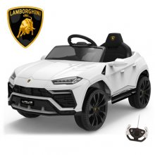 White 12V Licensed Lamborghini Urus 2021 Ride On Car with remote