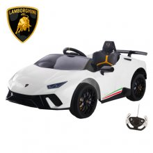 Official White Lamborghini Huracan 12v Kids Electric Car