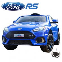 Racing Blue Ford Focus RS Kids 12v Ride On Sports Car