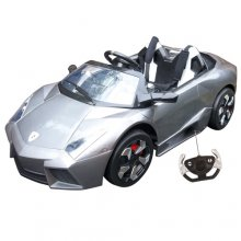 12v Large Special Edition Silver Lambo Kids Sports Car