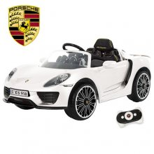 Luxury Kids White 12v Porsche 918 Licensed Ride On Car