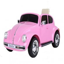 Kids Licensed Classic Pink Volkswagen Beetle 12v Ride On Car