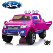 Kids Official 12v EVA Tyre Pink Ford Ranger Jeep