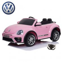Kids Licensed Pink Volkswagen Beetle 12v Ride On Car