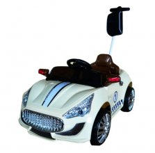 6v Maserati Style Sports Car with remote and push along bar