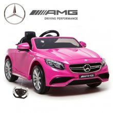 Pink Licensed Mercedes S63 Kids Electric 12v Car