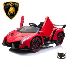 Red Kids Official 2 Seat Lamborghini 24v 4WD Remote, EVA & Tyres