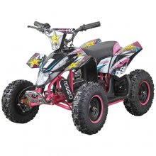 Girls 36v Pink Off Road Electric Premium Quad Bike