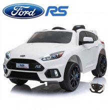 Ice White Kids Electric 12v Ford Focus RS Ride On Car