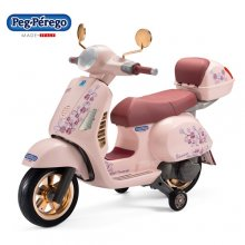 Pink Rose Gold Edition Kids Official Vespa 12v Ride On Moped