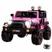 Kids Two Seat Pink Explorer 12v Large Ride On Jeep