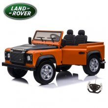 Kids Two Seat 4WD Large Electric 24v Orange Land Rover Defender