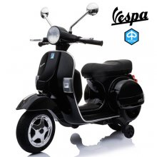 Official Piaggio Vespa Kids Black 12v Ride On Electric Moped