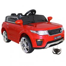 Kids Red City Jeep Mini 12v Ride On SUV with Doors & Remote