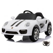 Porsche 911 Carrera Style 12v Kids Electric Car with Remote