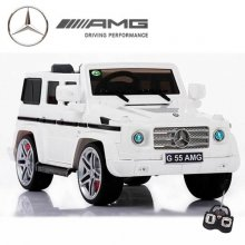 12v Ice White Mercedes G55 G-Wagon Ride in Jeep with Remote