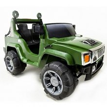 Green 2 Seater 12v Hummer Style Ride On Jeep