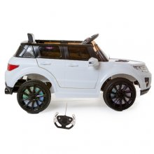 12v White Mini Range Jeep with Full Suspension & Doors
