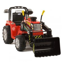 12v Battery Ride On Tractor With Loader Bucket