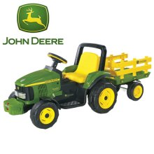 12 Volt John Deere Electric Ride-On Tractor & Trailer