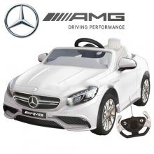 Official 12v Ice White Mercedes S63 Ride On Car