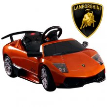 Official 12v Orange Lamborghini Murcielago SV Ride On Car