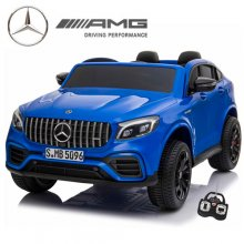 Kids Two Seater 4WD GLC Mercedes Blue 24v Kids EVA SUV