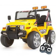 12v Yellow Two Seater Off Road Kids Electric Jeep
