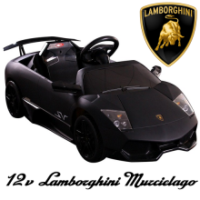 Licensed Kids 12v Black Lamborghini Murcielago SV Car