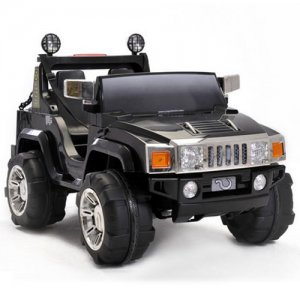 Two Seater 12v Ride-On Hummer Jeep [Black]