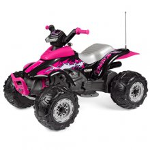 12v Peg Perego Pink T-Rex Premium Girls Battery Quad Bike