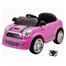 12v Micro Compact Pink Mini Style Kids Ride On Car with Remote