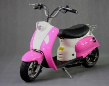 Pink Retro Girls Premium 24v Electric Scooter