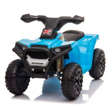 Value Blue 6v Micro Sit On Battery Powered Quad With Sounds