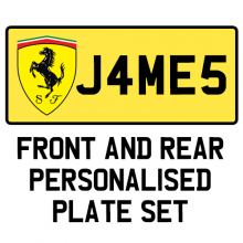 Custom Made Personalised Number Plate For Kids Electric Cars