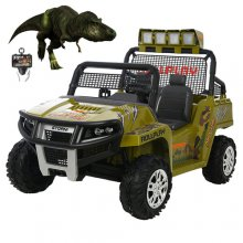 Jurassic Park Style Augmented Reality Kids 12v 2 Seater Jeep