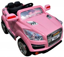 Girls Pink Crossover Jeep 12v Q7 Style SUV Ride-On