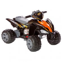 Two Speed 12v Kids Black and Red Cool Quad Bike
