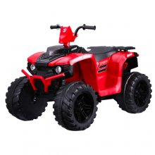Red Kids 12v Farm Yard Electric Ride On Quad