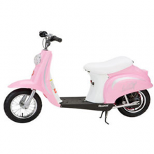 Pink Razor Retro 24v Sit on Battery Powered Girls Electric Bike