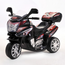 Kids 6v Black Touring Trike with Storage Box