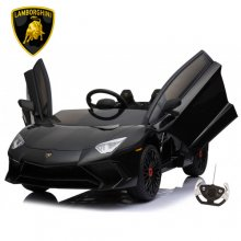 Licensed Kids Sit-in Lamborghini SV Black 12v Aventador Supercar