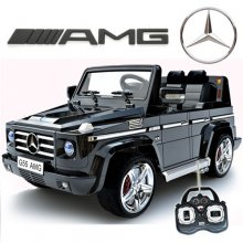 Licensed Black Mercedes AMG G55 Luxury Kids 12v Jeep