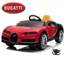 Licensed Red Bugatti Chiron 12v Kids Electric Ride On Car
