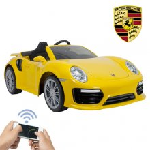 Kids 6v Official Porsche 911 Turbo Ride On Electric Car
